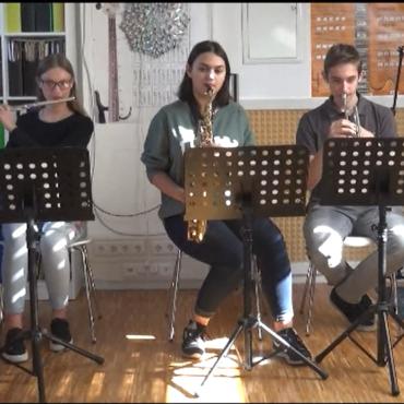 Trio von Blasinstrumenten «Nord Stadt»